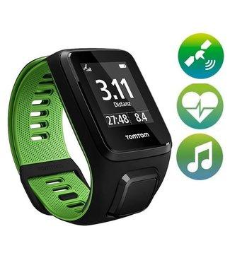TomTom TomTom Runner 3 Cardio Music GPS Sporthorloge (zwart / groen)
