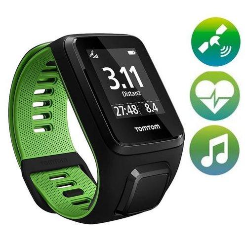 TomTom Runner 3 Cardio Music GPS Sporthorloge (zwart / groen)