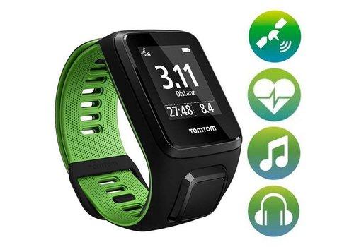 TomTom TomTom Runner 3 GPS + Cardio + Music + Bluetooth Headphones (zwart / groen)