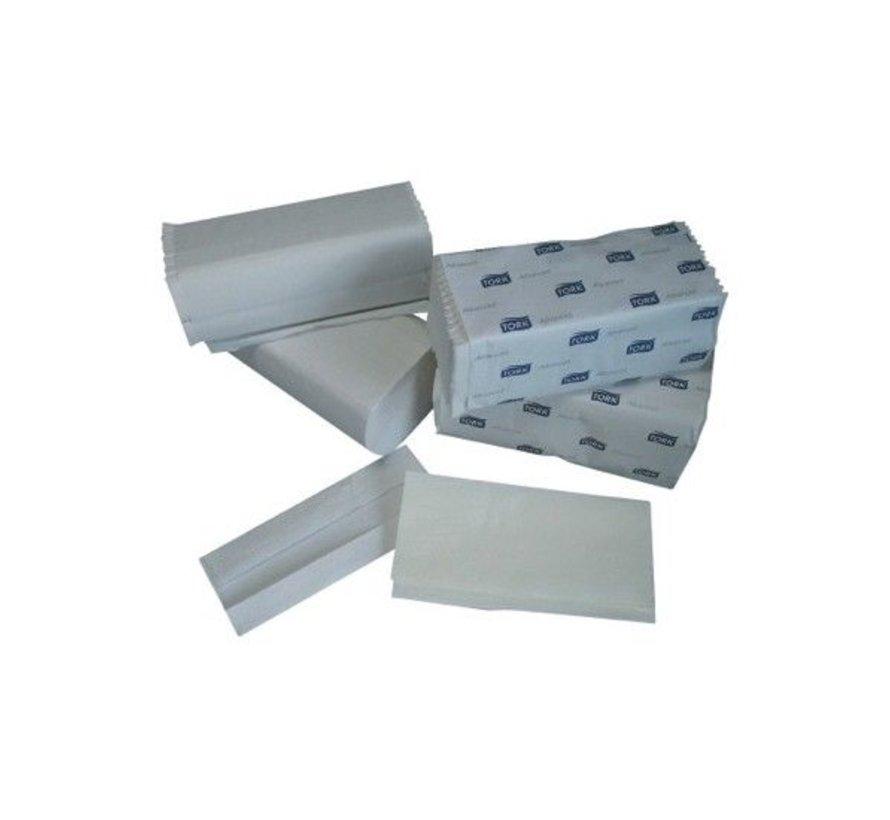 Tork Wit Singlefold Handdoek Advanced (2 laags) 3750 st