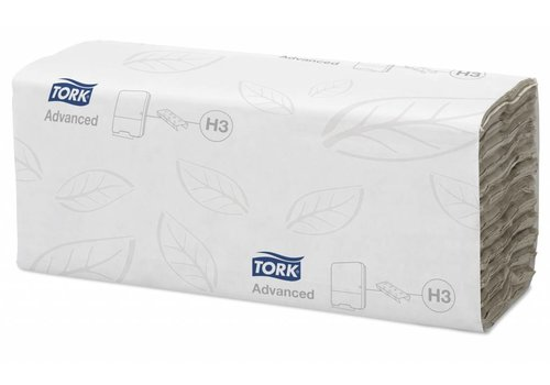 Tork Tork Wit C-vouw Handdoek Advanced (2 laags) 1400 st