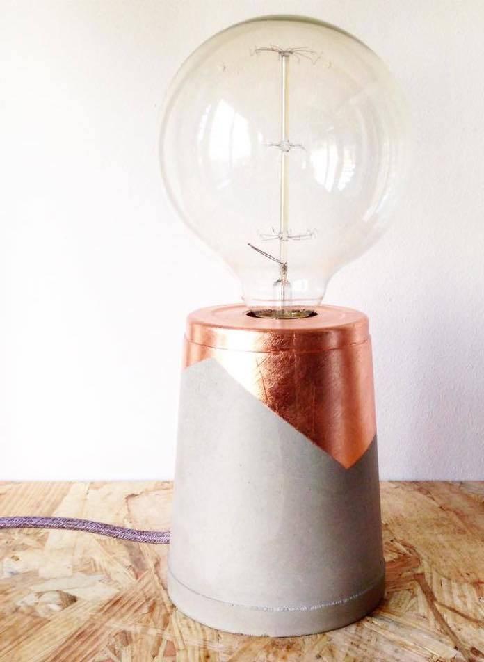 Les Pieds de Biche Lampe  Metallic Grand