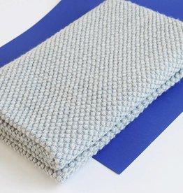 Julie Van Den Meutter Handwoven blanket - Grijs met detail van blauw