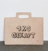 """Atelier Dubbeloo LEATHER BAGS (laptop 13""""+ zeefdruk - gekapt)"""