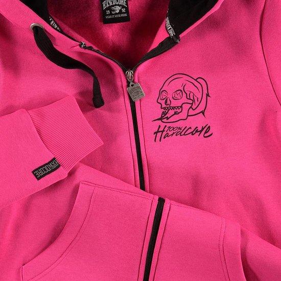 100% Hardcore Women Hooded Zipper Basic 2.0 Pink