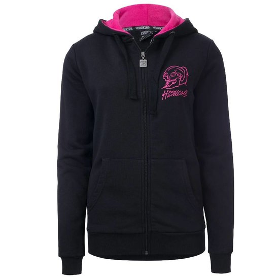 100% Hardcore Women Hooded Zipper Basic 2.0 Black / Pink