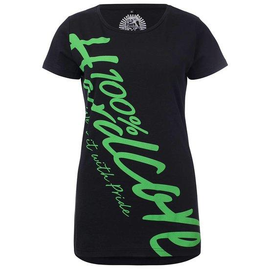 100% Hardcore Dames  T-Shirt Basic Groen