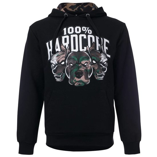 100% Hardcore Hoodie Army Dogs