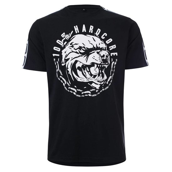 100% HardcoreT- Shirt Aggressive Breed Zwart