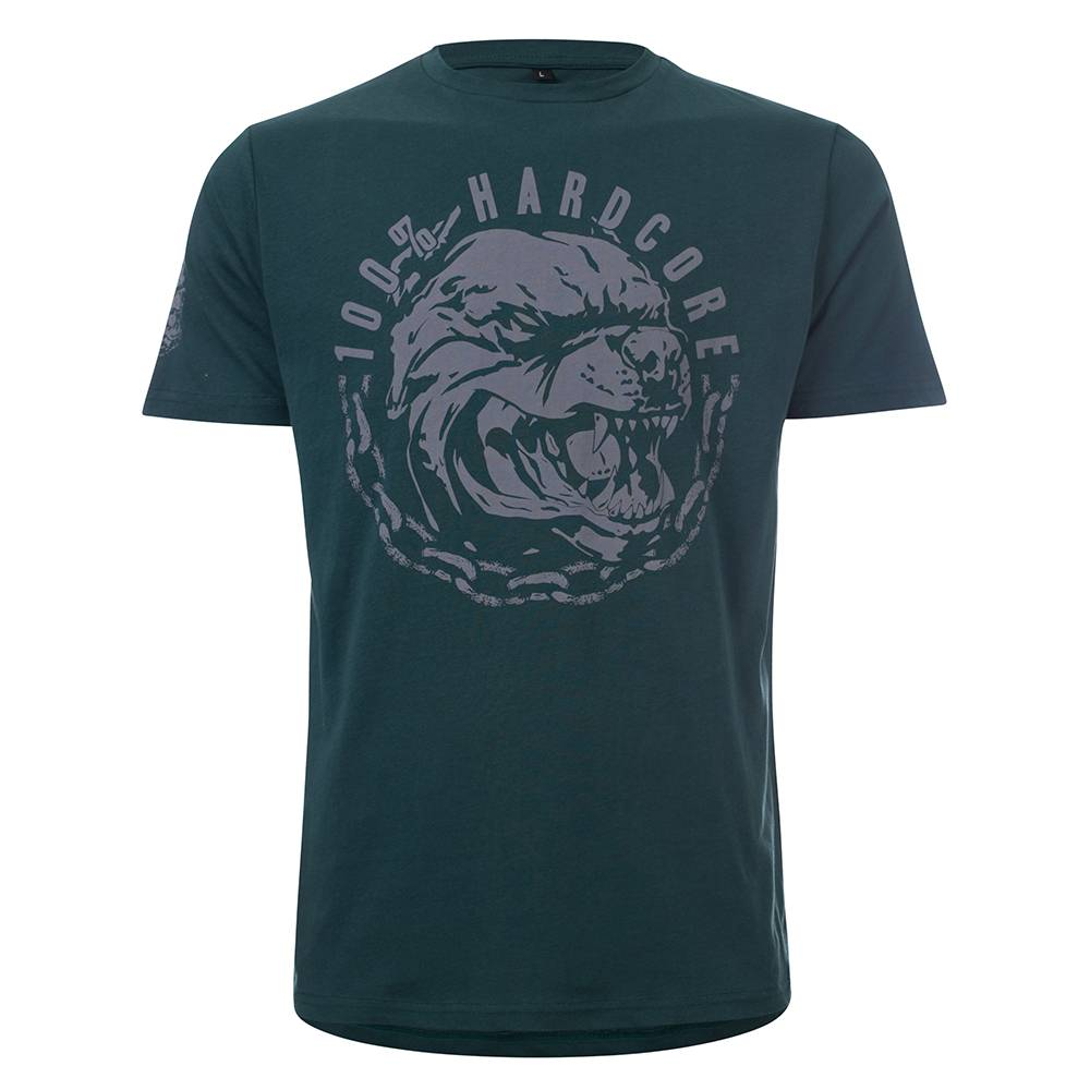 100% Hardcore T-Shirt Aggressive Breed Green