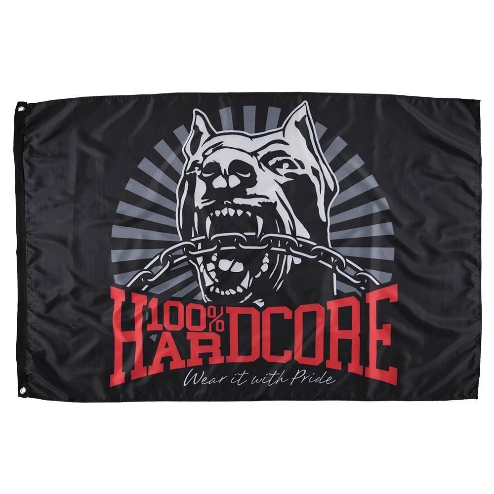 100% Hardcore Vlag *Dog-1*