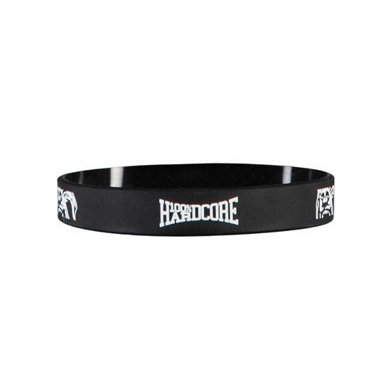 100% Hardcore Wristband Black/ White