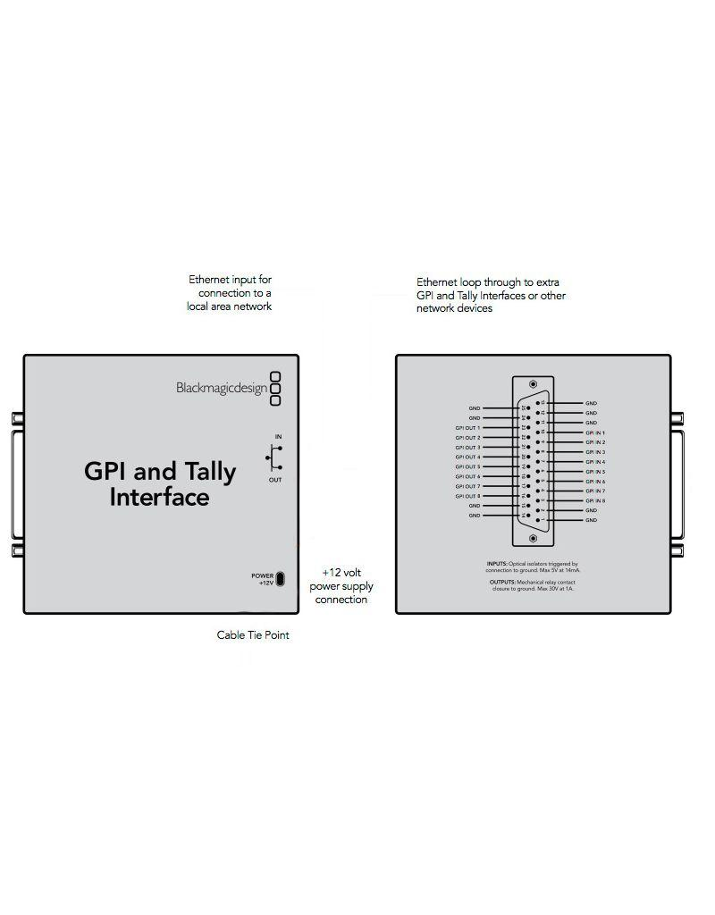 Blackmagic Design Blackmagic Design GPI & Tally Interface