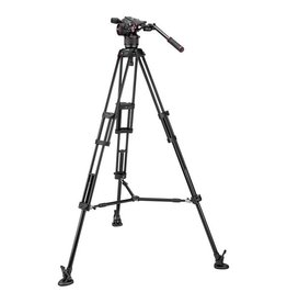 Manfrotto Manfrotto MVKN8TWINM Nitrotech N8 / 546B Pro Tripod with Mid-Level Spreader