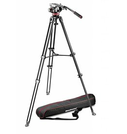 Manfrotto Manfrotto MVK502AM-1 Tripod With Fluid Video Head, Aluminium Telescopic Twin Leg