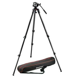 Manfrotto Manfrotto MVK500C Lightweight fluid video system with carbon single legs