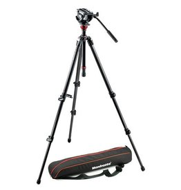 Manfrotto Manfrotto MVH500AH/755CX3 Tripod With Fluid Video Head and Carbon Legs