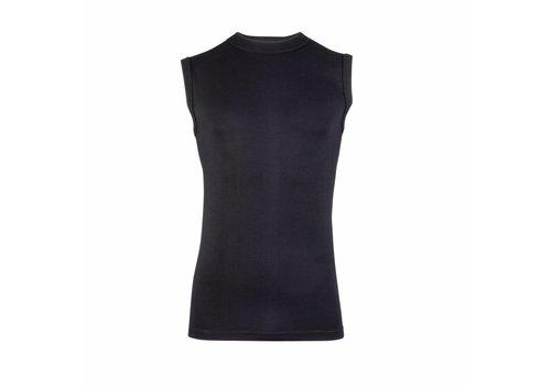 heren mouwloos comfort feeling hemd zwart