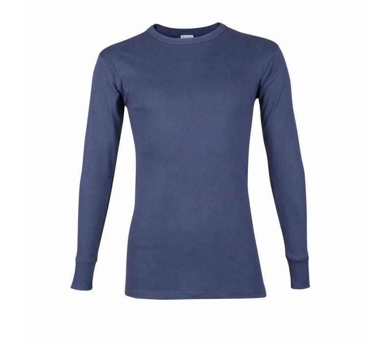 heren T-shirt lange mouw M3000 donkerblauw