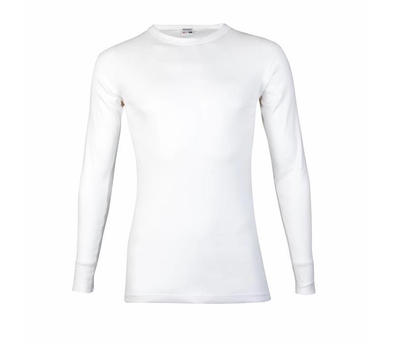 heren T-shirt lange mouw M3000 wit