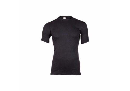 heren shirt korte mouw thermo zwart