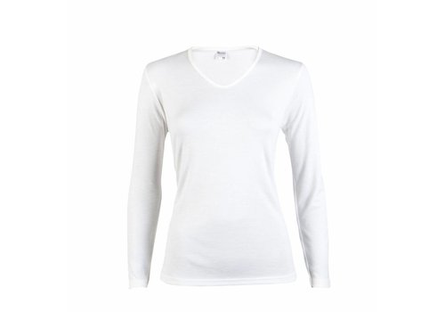 Beeren Dames Shirt Thermo Lange Mouw Wit