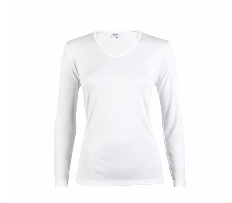 dames shirt thermo lange mouw wit