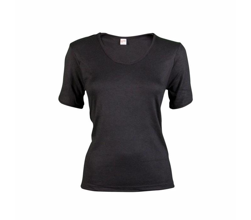 dames thermo T-shirt zwart