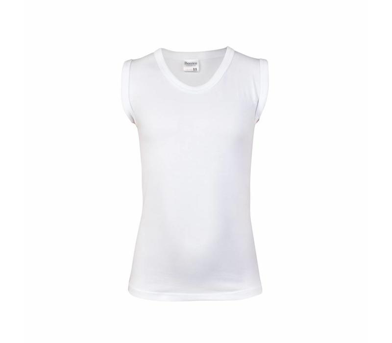 jongens mouwloos shirt comfort feeling wit