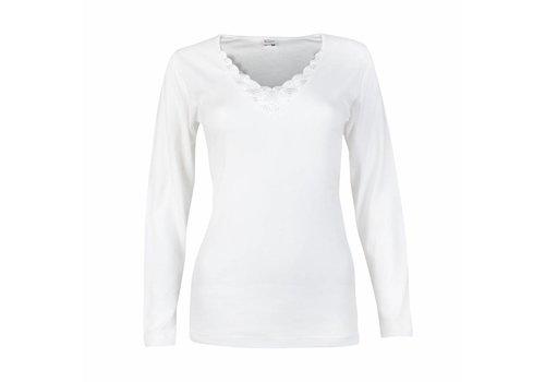 Beeren Shirt Lange Mouw Beatrix Wit