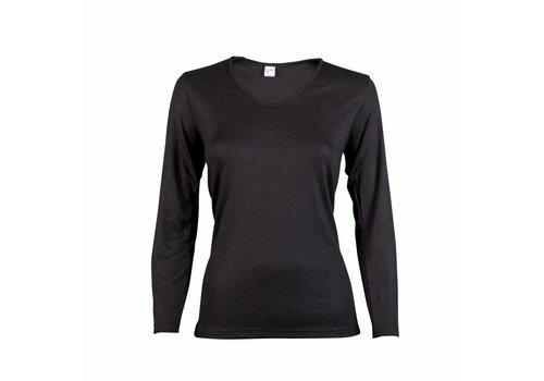 Beeren Dames Shirt Thermo Lange Mouw Zwart