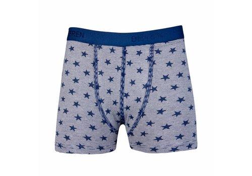 jongens boxershort streep /ster donkerblauw