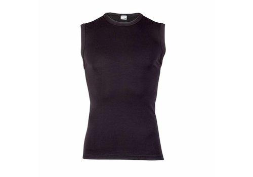 Beeren Heren Extra Lang Mouwloos Shirt Zwart