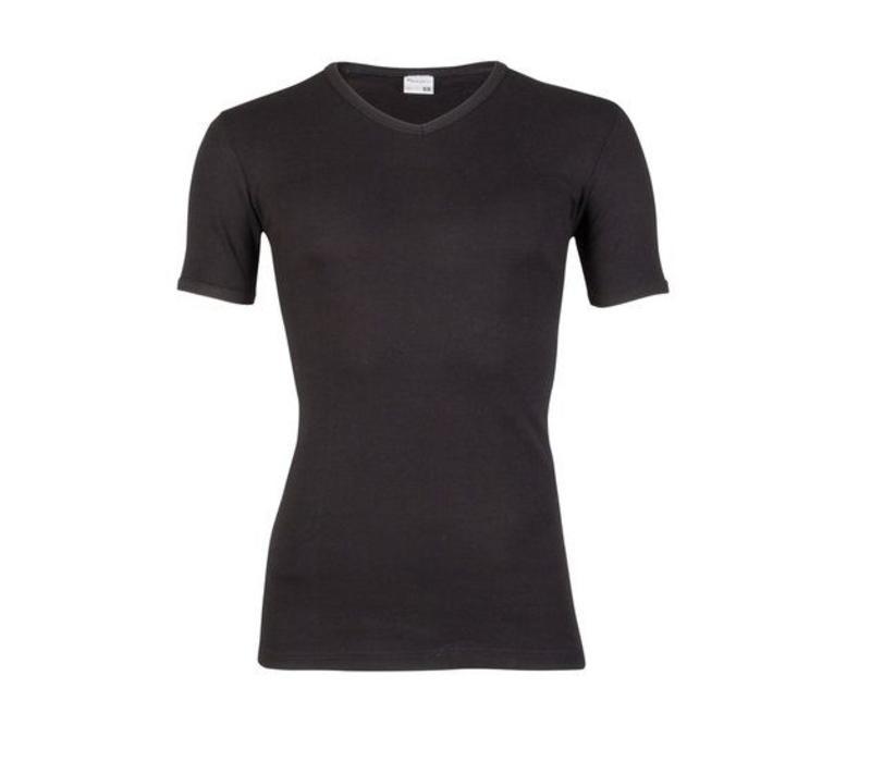 jongens T-shirt M3000 zwart met V-hals