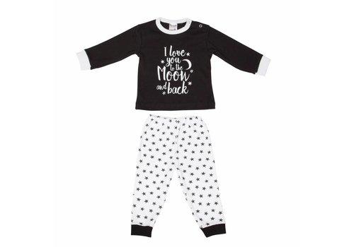 Beeren baby pyjama to the moon zwart
