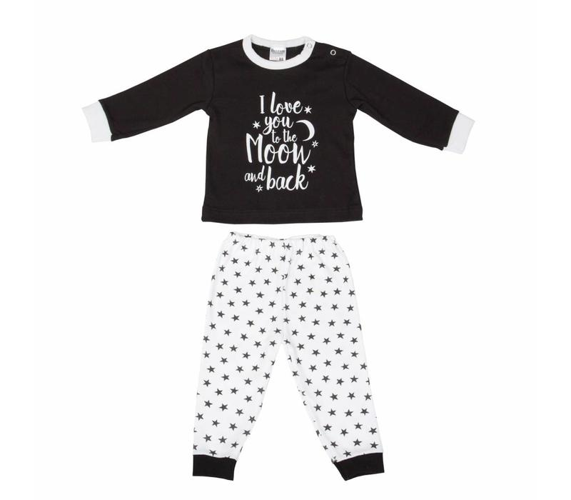 Beeren baby pyjama to the moon zwart