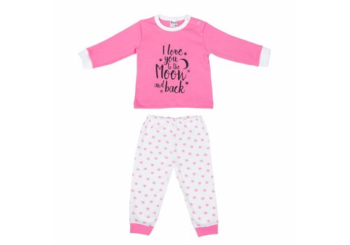 Beeren baby pyjama to the moon roze