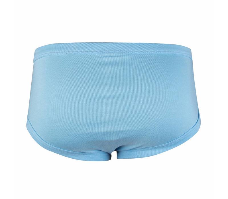 heren slip met gulp blauw, M3000