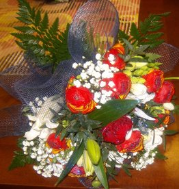 Bouquet bianco rosso