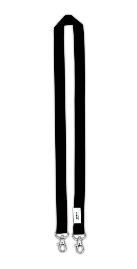 Zwart Polyester Badgekoorden Met 2 Haken Set Van 50 Parthens