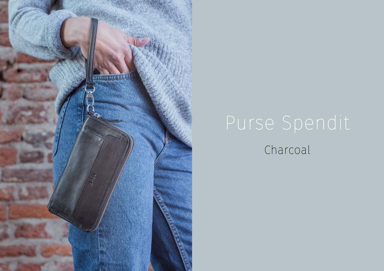 Purse Spendit - Charcoal