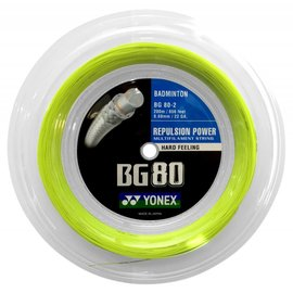 Yonex Yonex BG80 Badminton String 200m coil - Yellow