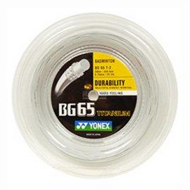 Yonex Yonex BG65Ti Badminton String 200m coil - white