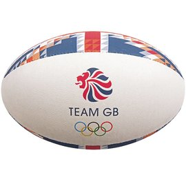 Gilbert Gilbert Team GB Supporter Rugby Ball, Size 5