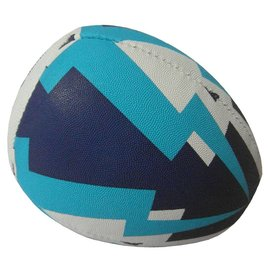 Partner 1/2 Rugby Ball Trainer Ball, White/Blue