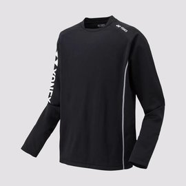 Yonex Yonex 31018EX Mens Warm Up Top, Black