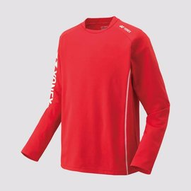 Yonex Yonex 31018EX Mens Warm Up Top, Sunset Red