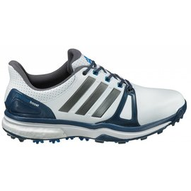 Adidas Adidas Adipower Boost 2 Gents Spiked Golf Shoe, White/Blue