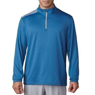 Adidas Adidas Mens 3 Stripe French Terry Quarter Zip