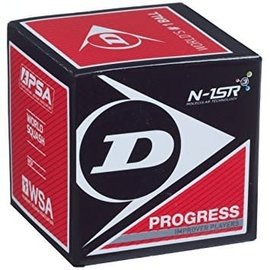 Dunlop Dunlop Progress Squash Ball (Red Dot)
